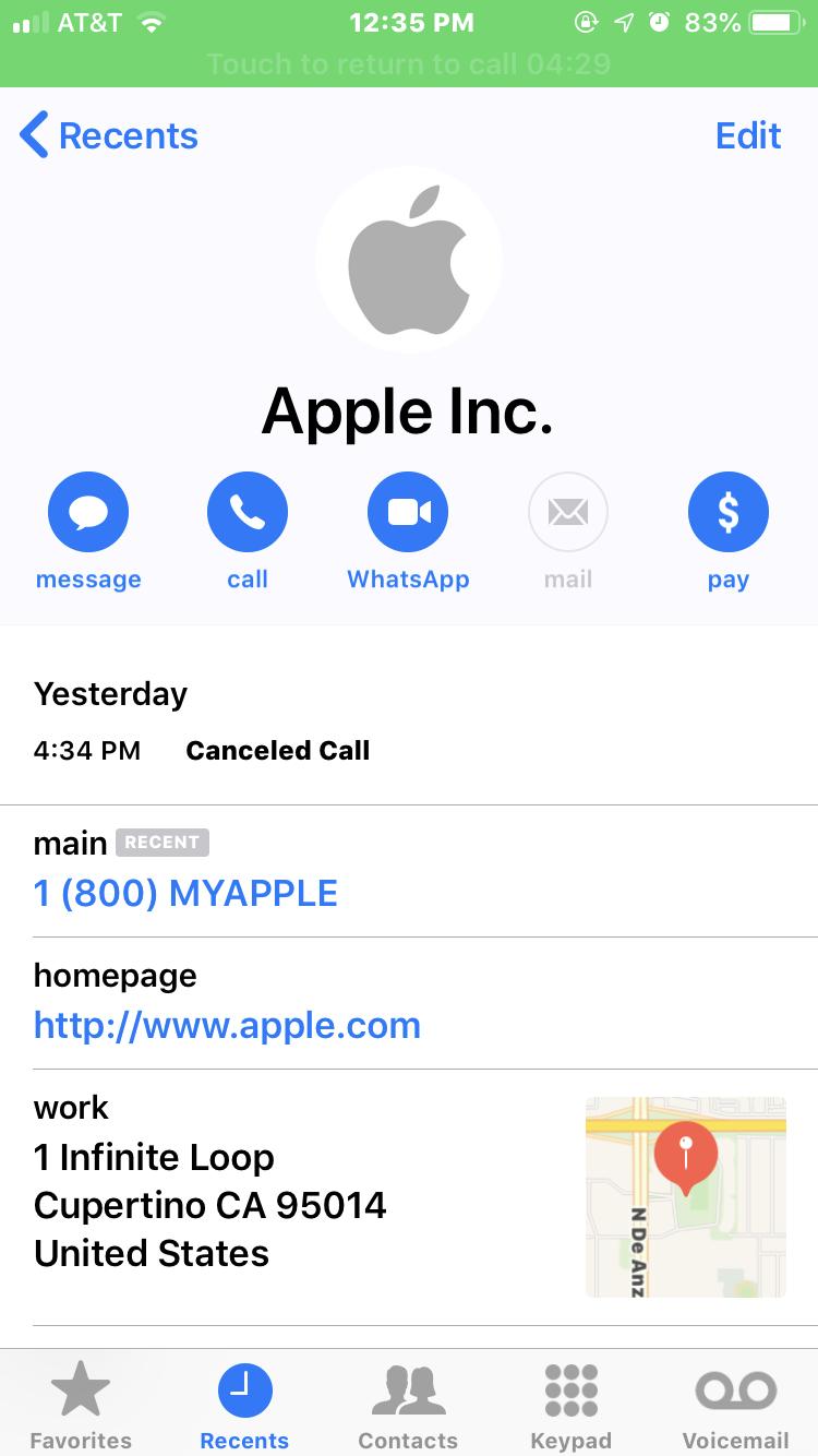 image of apple voice phishing scam