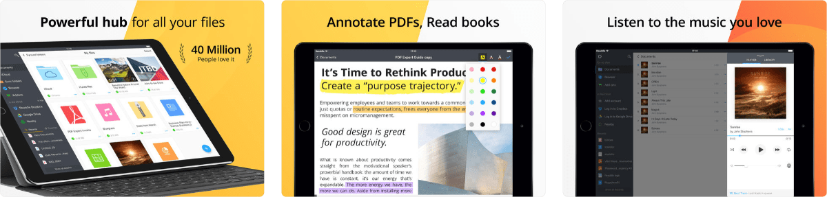 screenshots of documents by readdle