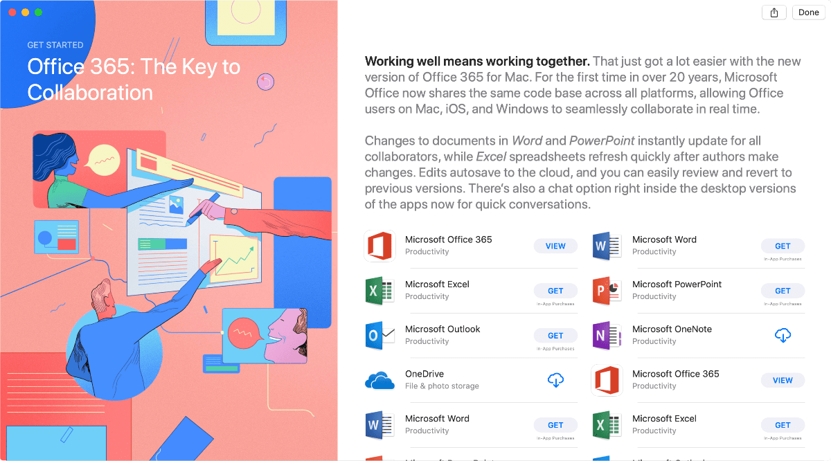 image of microsoft apps in mac app store