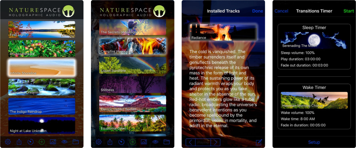 screenshots of naturespace