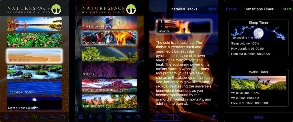 screenshots of naturespace
