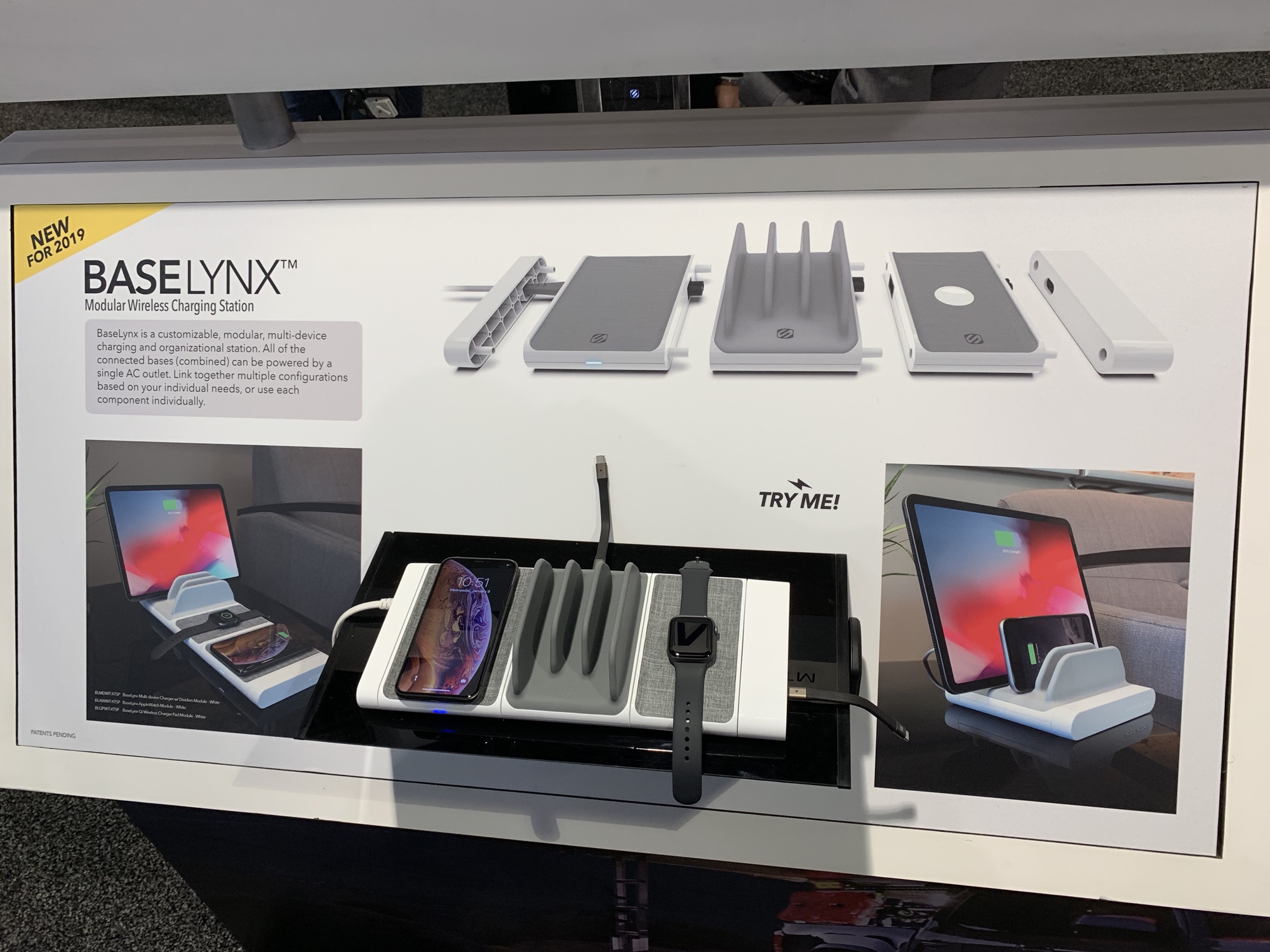 CES – Scosche BaseLynx Modular Wireless Charging Station Organizes and Charges Your Devices