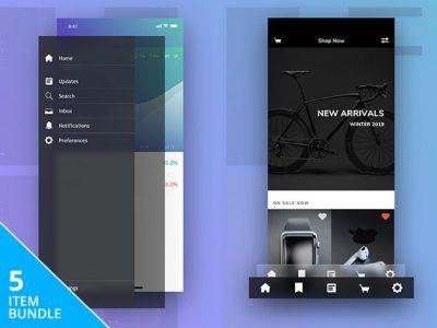 Sketch Packs App Design Elements Bundle