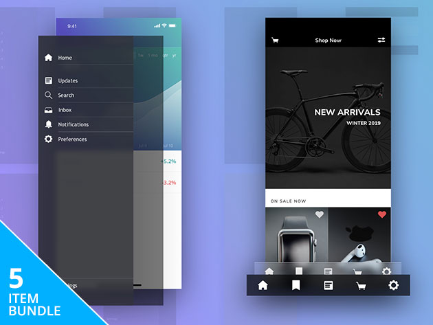 Bring Your Apps to Life withBundle of UI Design Elements for Social Media, e-Commerce, More: $19
