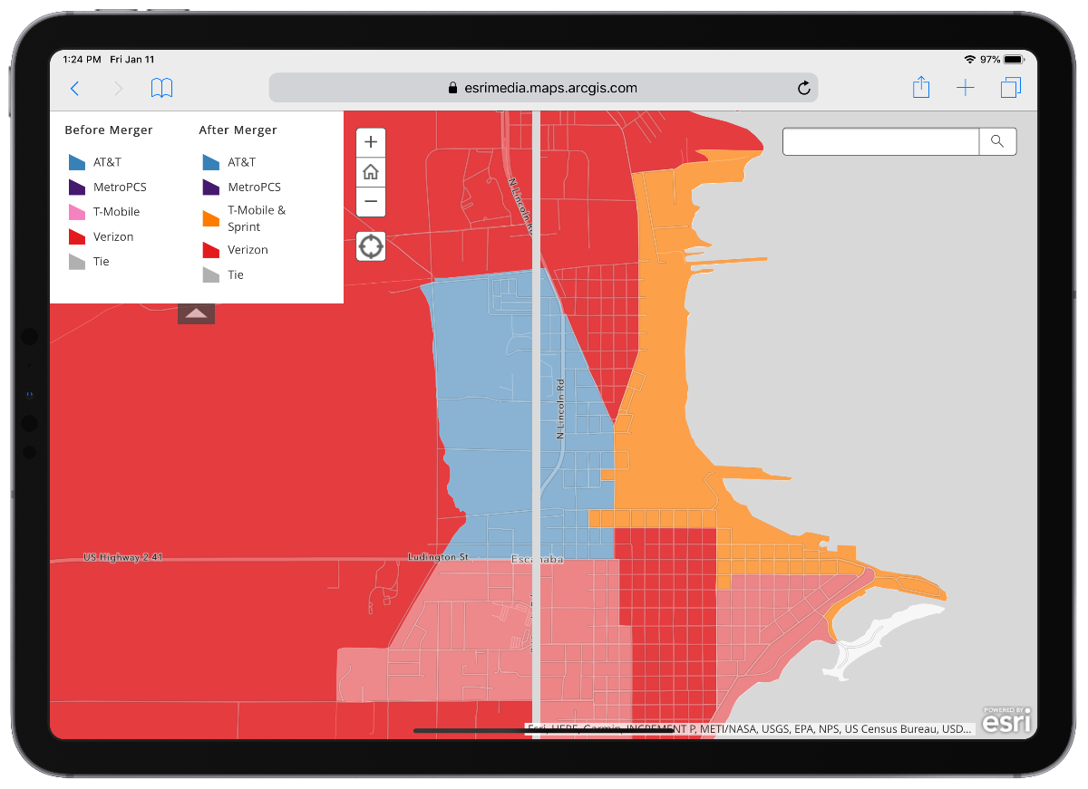 This Maps Shows T-Mobile, Sprint Coverage After Merger - The Mac ...