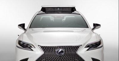 Toyota Research Institute Lexus autonomous vehicle