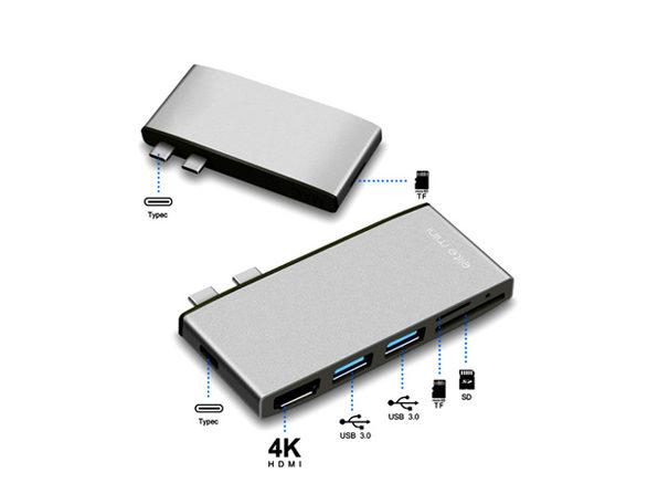 7-in-1 MacBook Pro USB-C Hub: $34.99