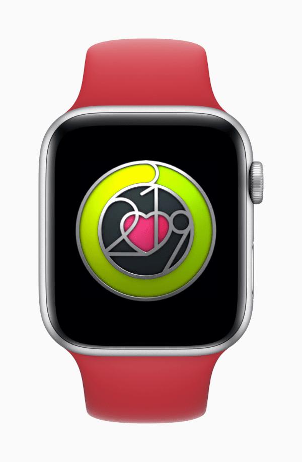 image of apple watch heart health badge