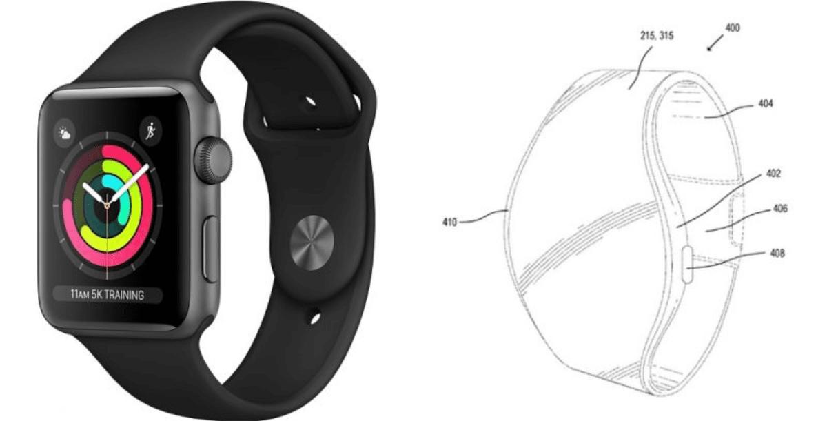 image of flexible Apple Watch design
