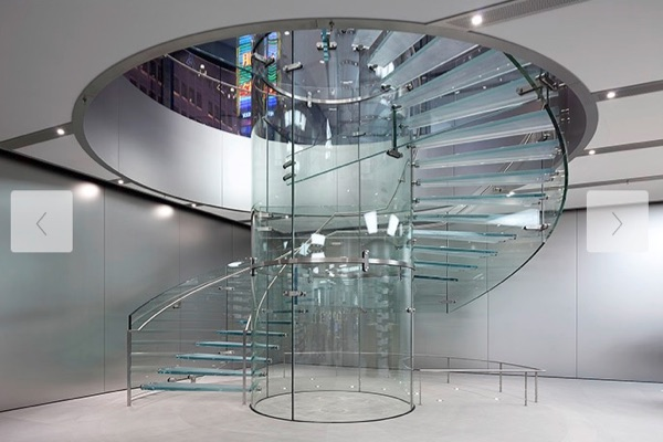 Apple store in China, staircase.