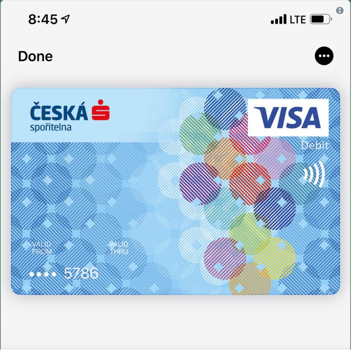 apple pay card in czech republic
