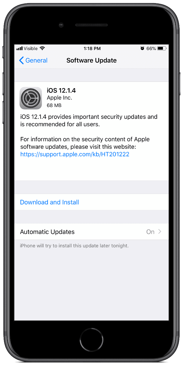 iOS 12.1.4 screenshot