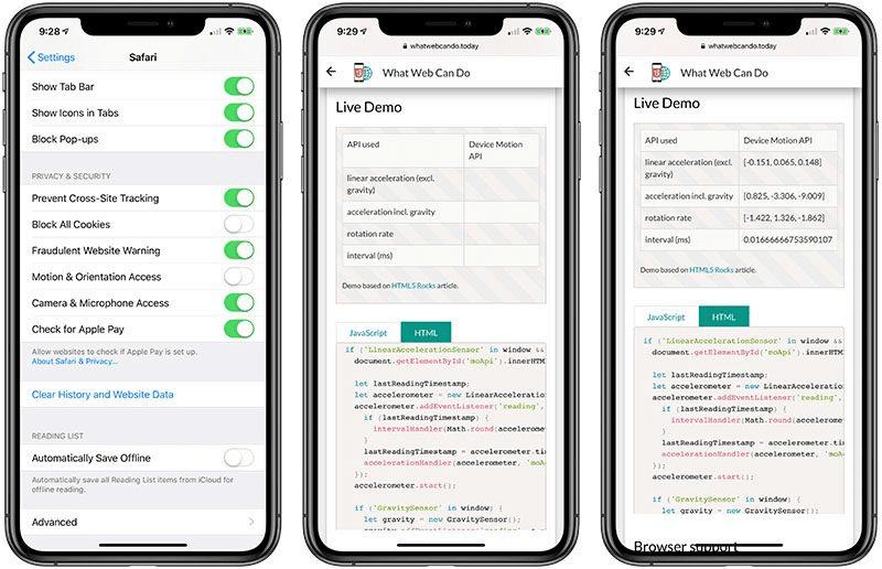 iOS 12.2 safari privacy toggle