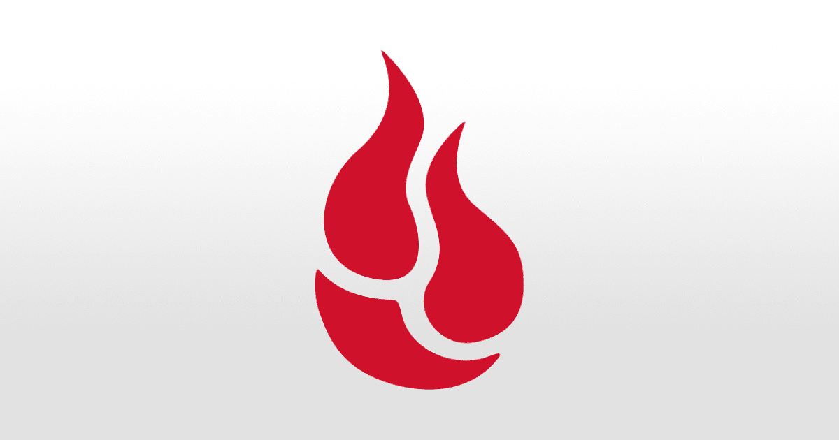 Red Backblaze logo on white background
