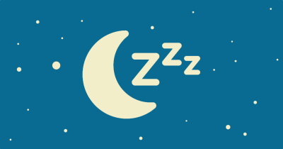 Sleep icon made up of a crescent moon and three Z letters.