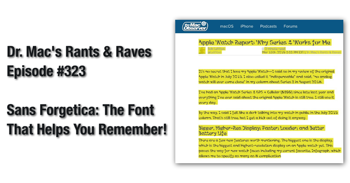 Sans Forgetica: The Font That Helps You Remember! - The Mac