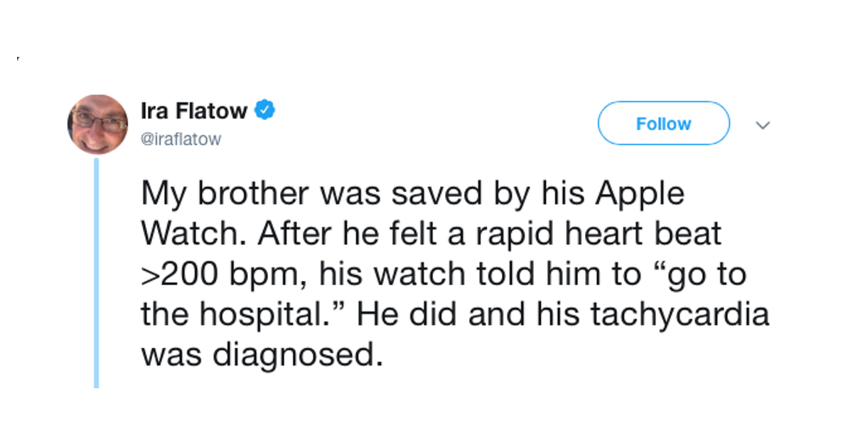 Ira Flatow Says Apple Watch 'Saved' his Brother