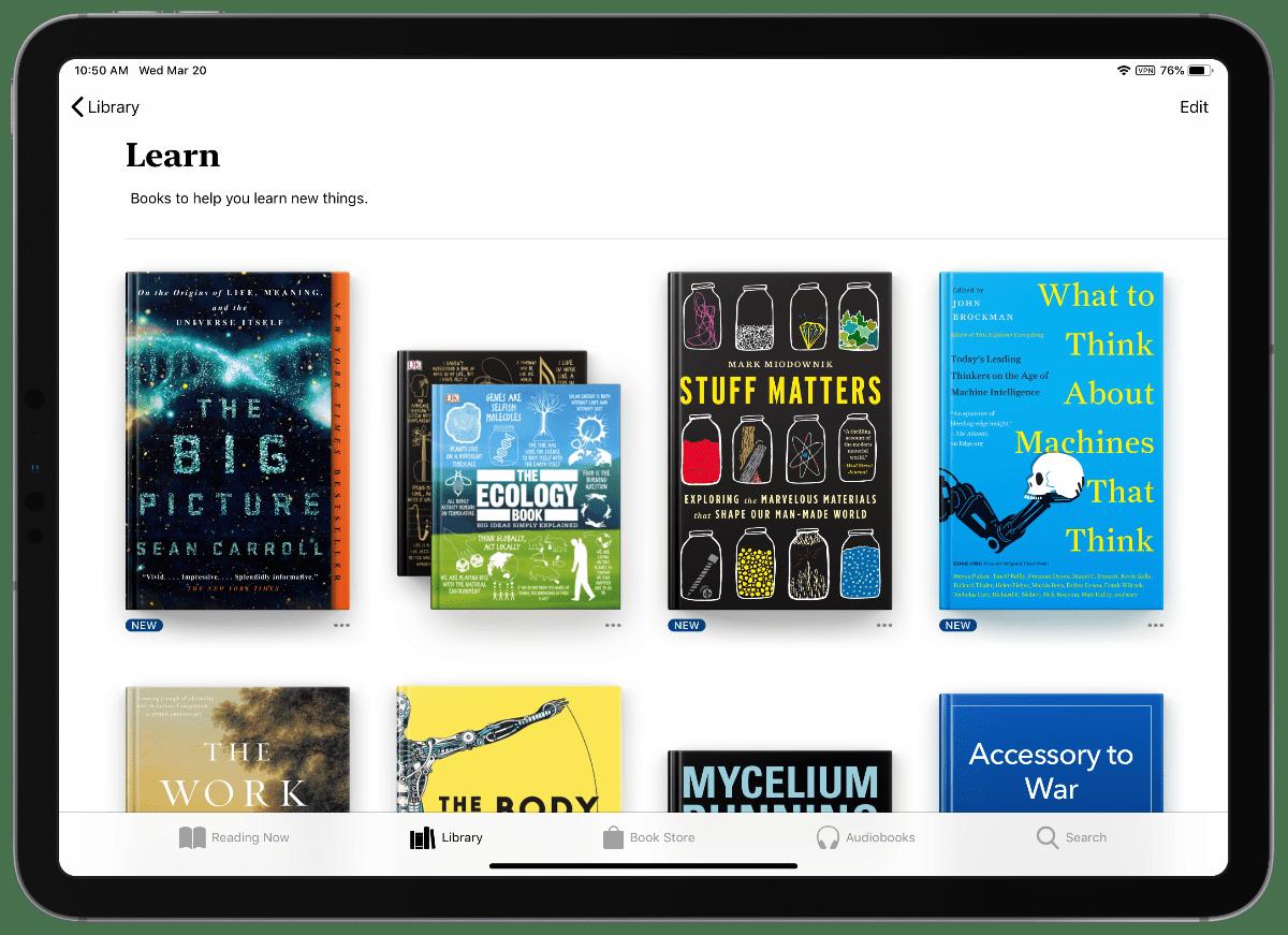 learn category in apple books