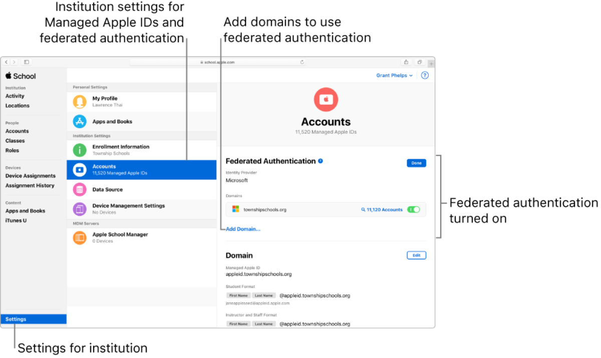 image of apple id federated authentication