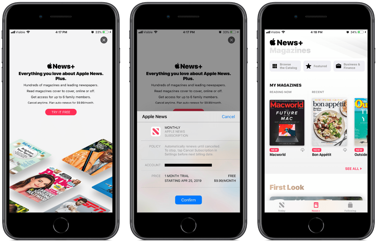 screenshots of apple news+