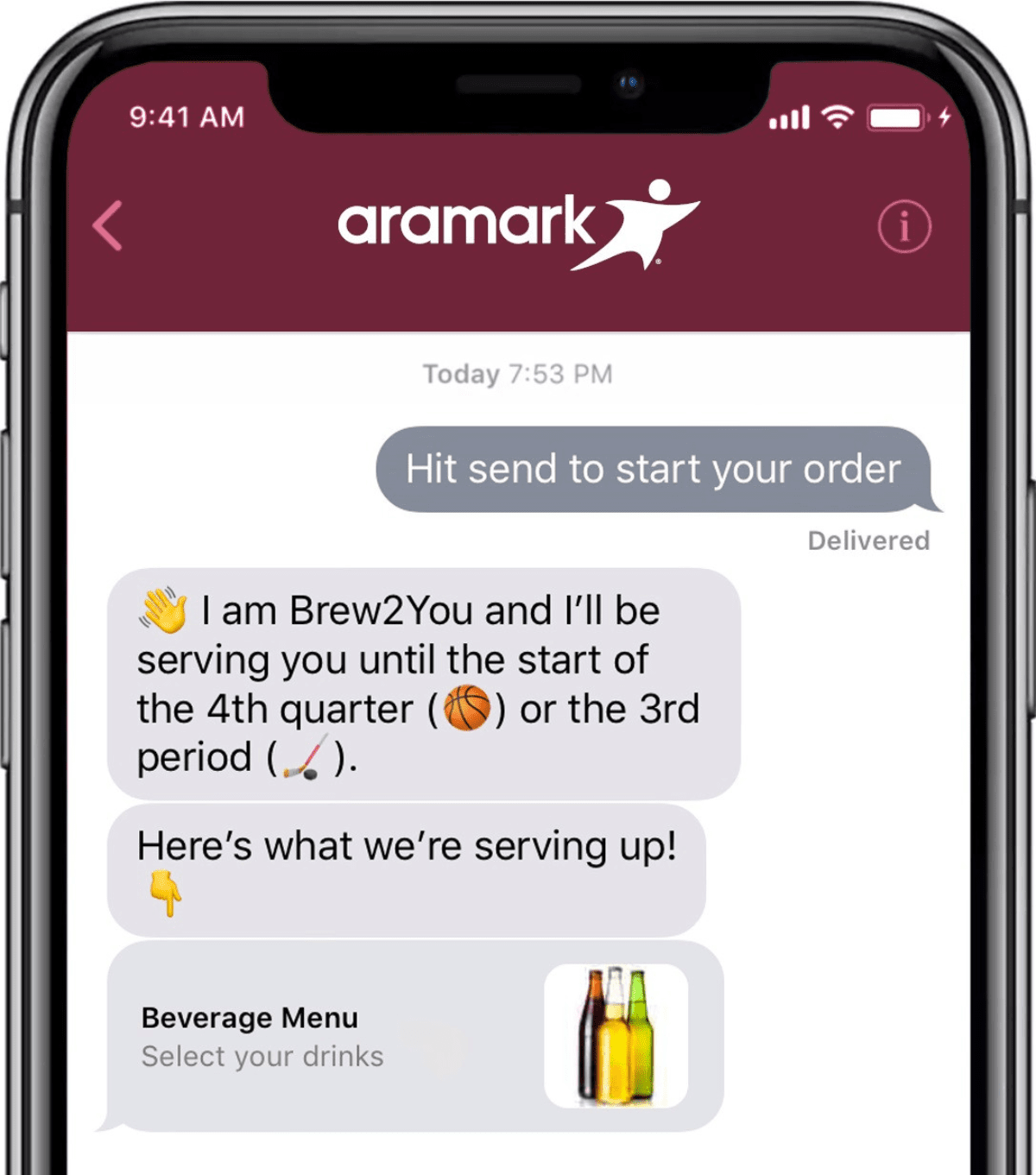 image of aramark business chat