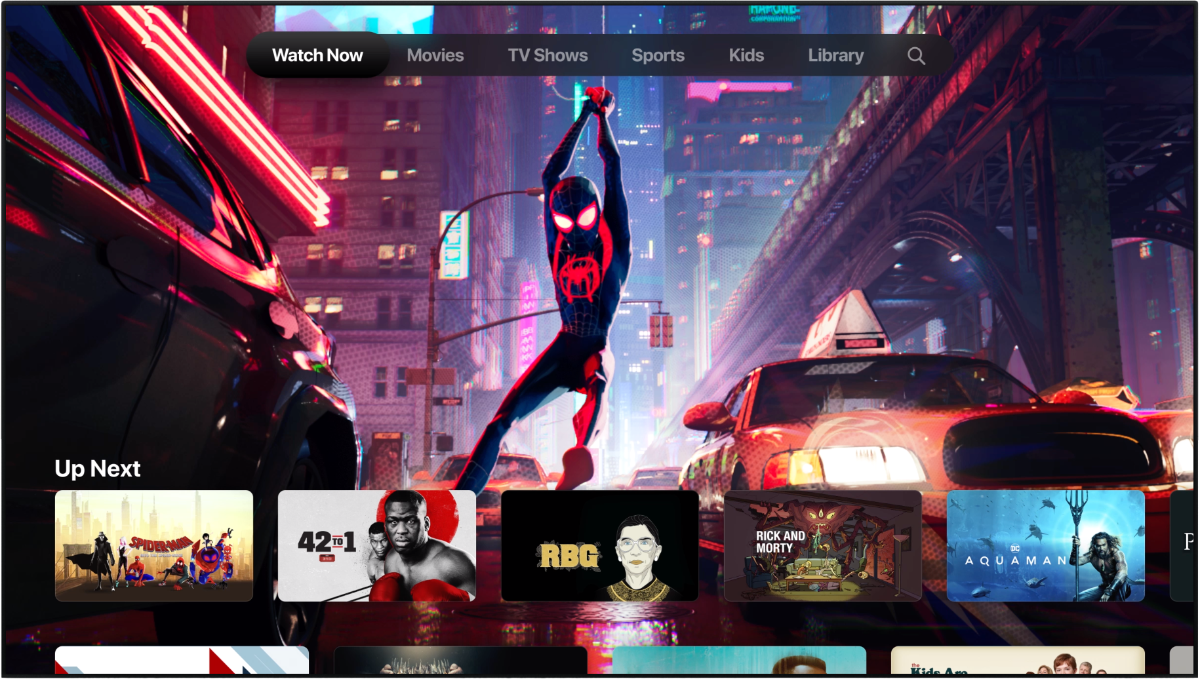 image of new TV app on apple TV
