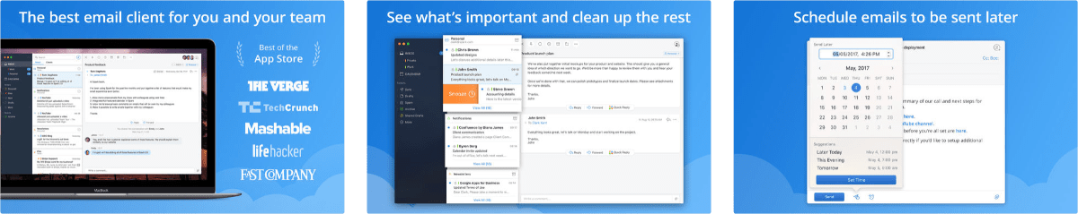Spark Email Gets Support for Trackpads and Mice