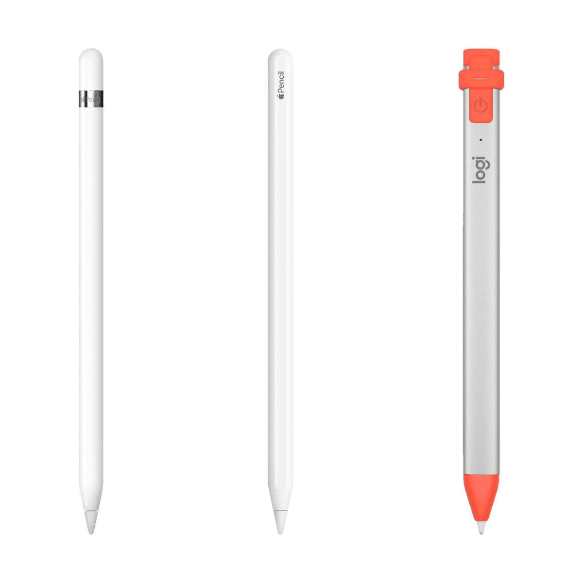 image of apple pencil, apple pencil 2, logitech crayon