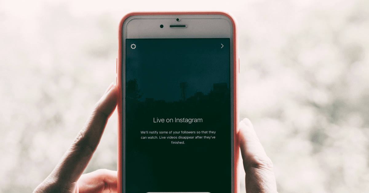 image of a person using Instagram