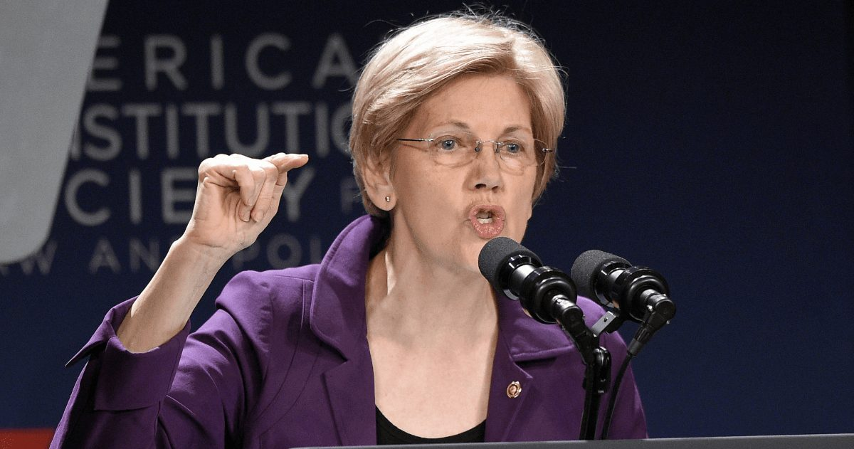 Elizabeth Warren is Not Going to Take Any More Big Donations From Tech