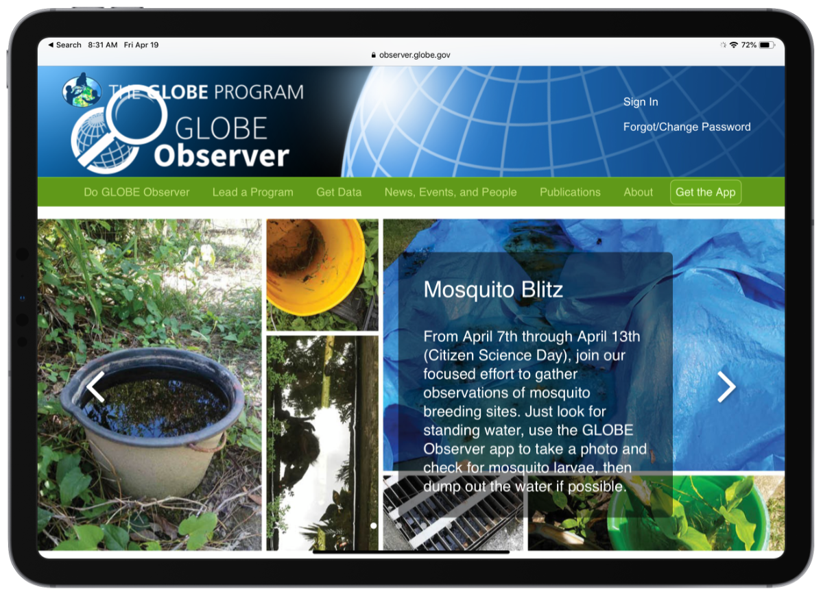 NASA Globe Observer is a Citizen Science Tool
