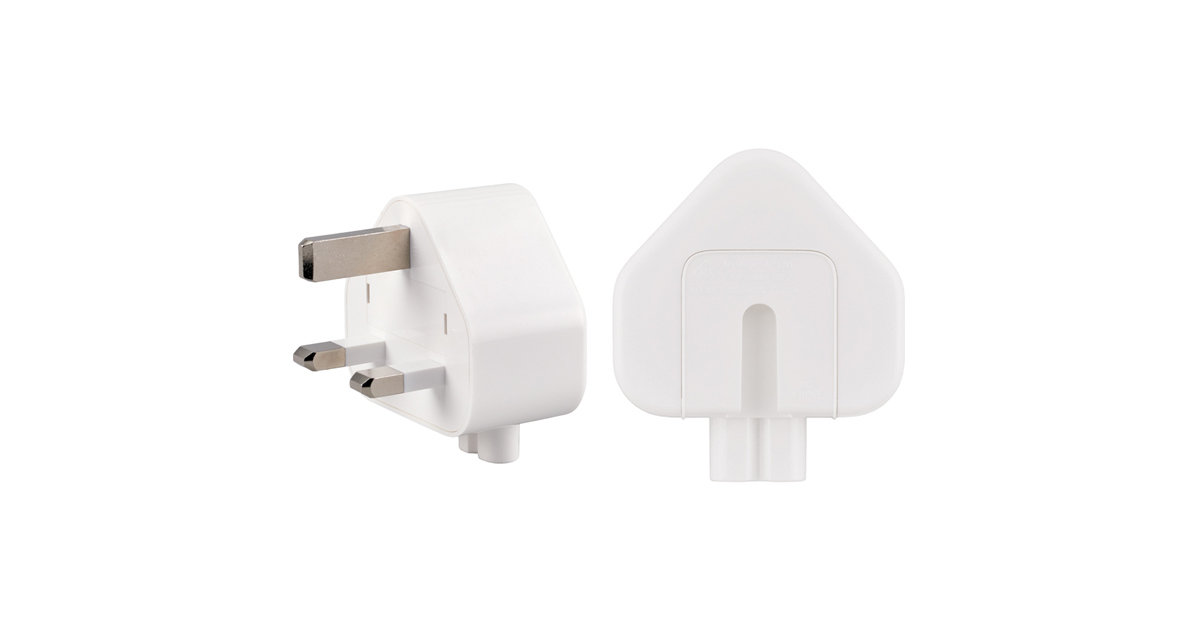 The three prong adapter has been recalled by Apple
