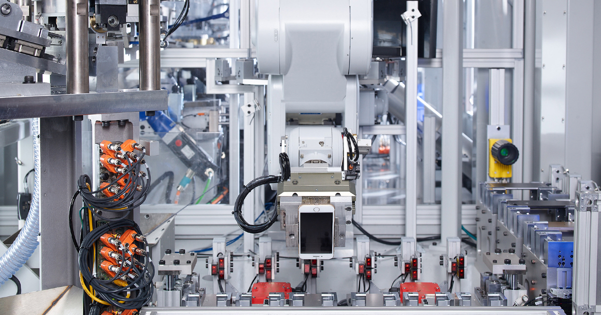 Image of iPhone recycle machine