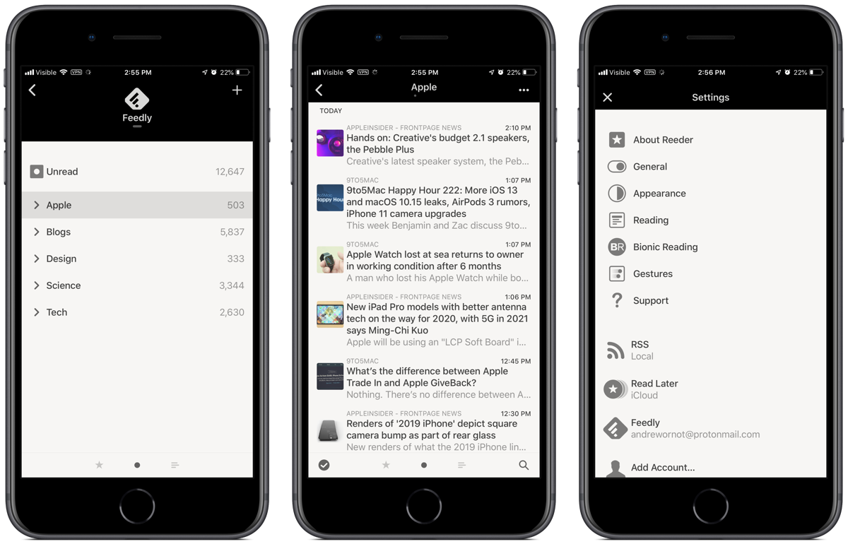 Reeder 4 is Out: Bionic Reading Mode, Image Previews, and More