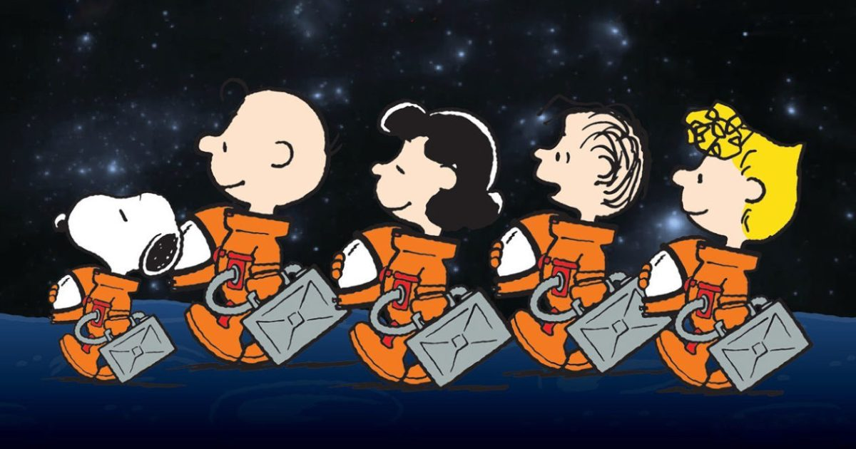 Image of peanuts in space