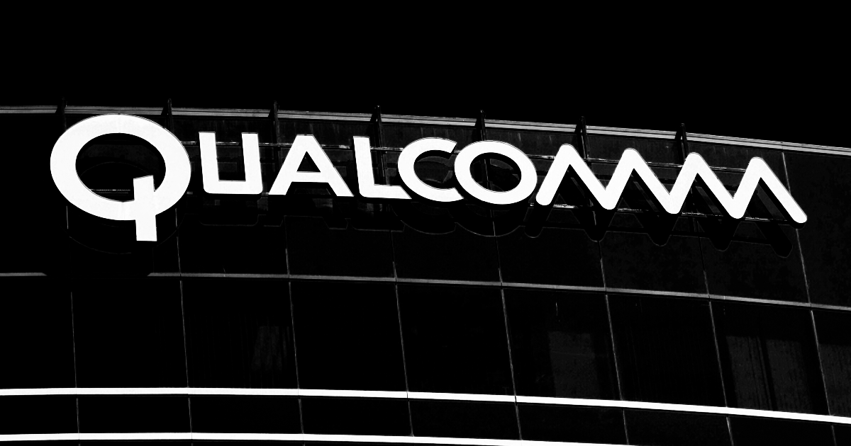 Qualcomm logo on building