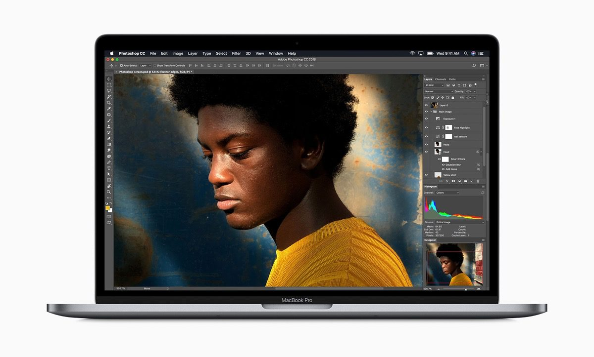 Image of new 8-core MacBook Pro