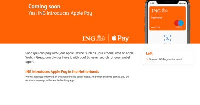 ING Holland Getting Apple Pay