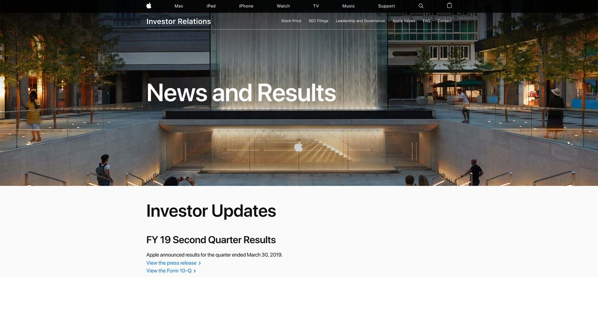 Investor Relations Page