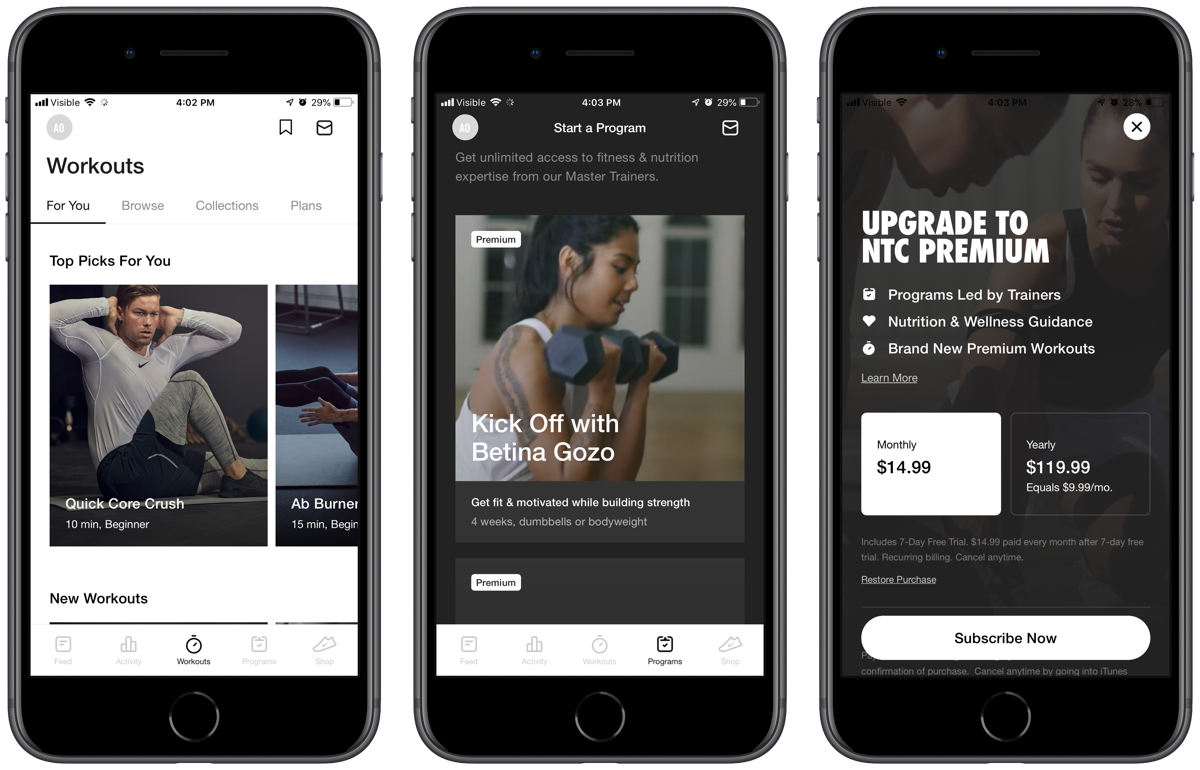 Nike Training Club Gets a Premium Subscription With Master Training