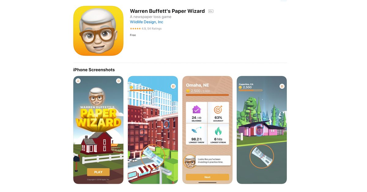 Warren Buffett Paper Wizard