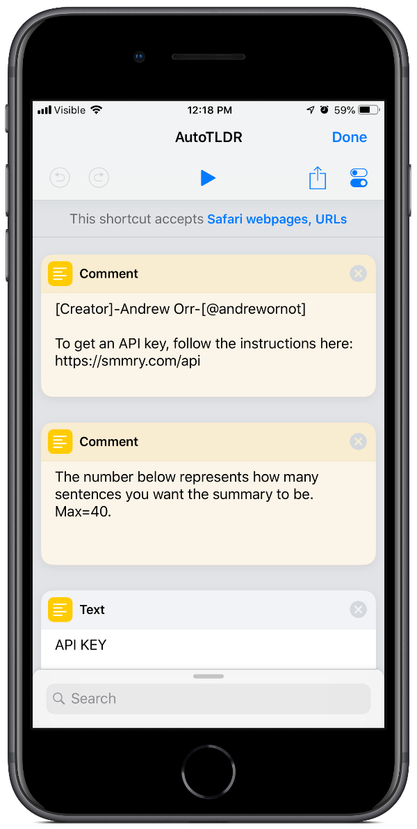 summarize articles with Andrew's autotldr shortcut as shown in this image
