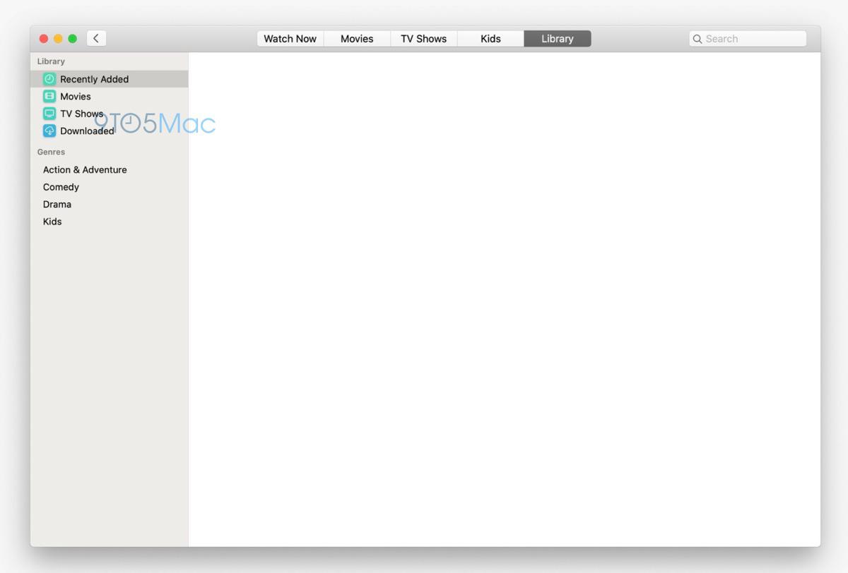 macOS 10.15 screenshots Tv