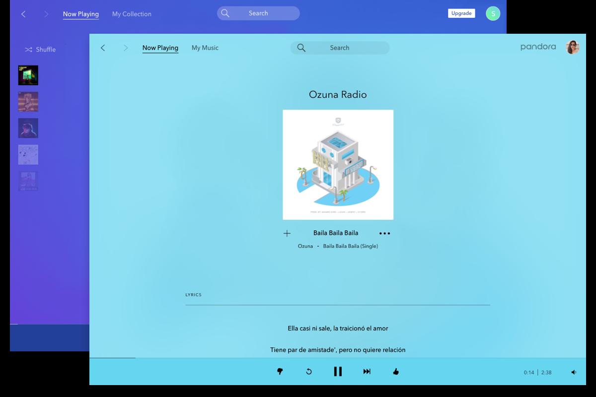 image of pandora desktop app