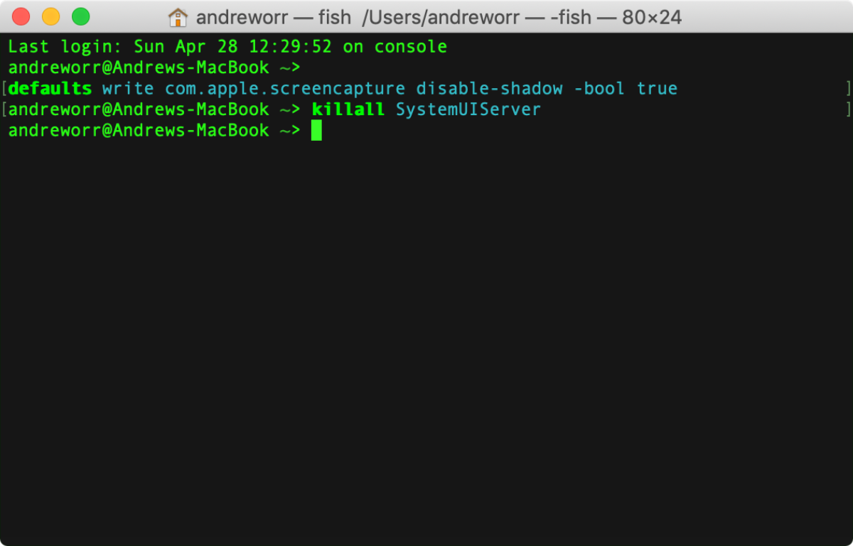 disable mojave screenshot shadows in terminal