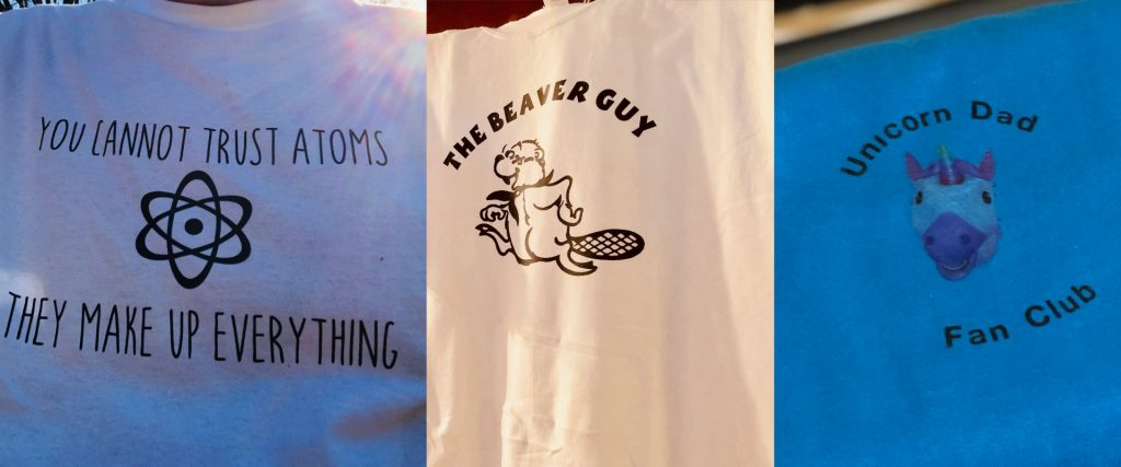 Unlike most home-made t-shirts, these almost look silkscreened.