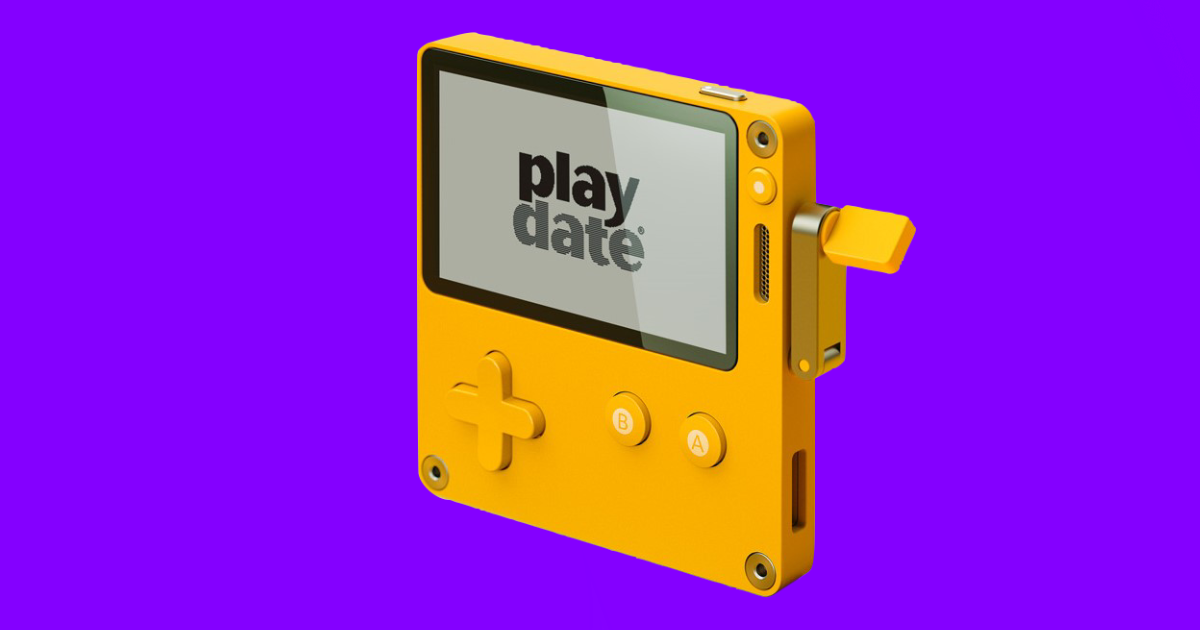 Play Date is a Handheld Game Console With a Hand Crank