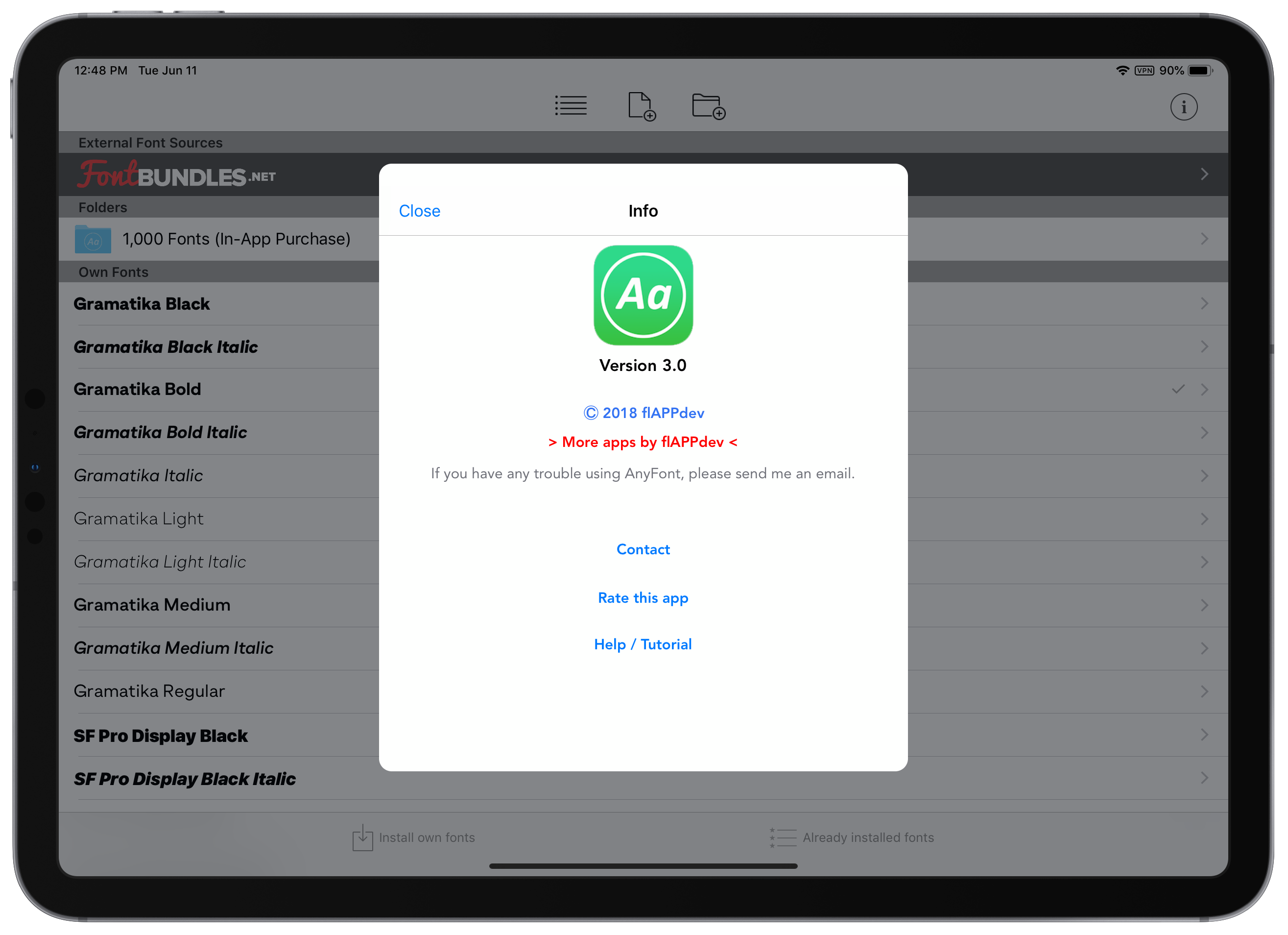 AnyFont 3.0 Brings Folders, iCloud Drive Integration, and More