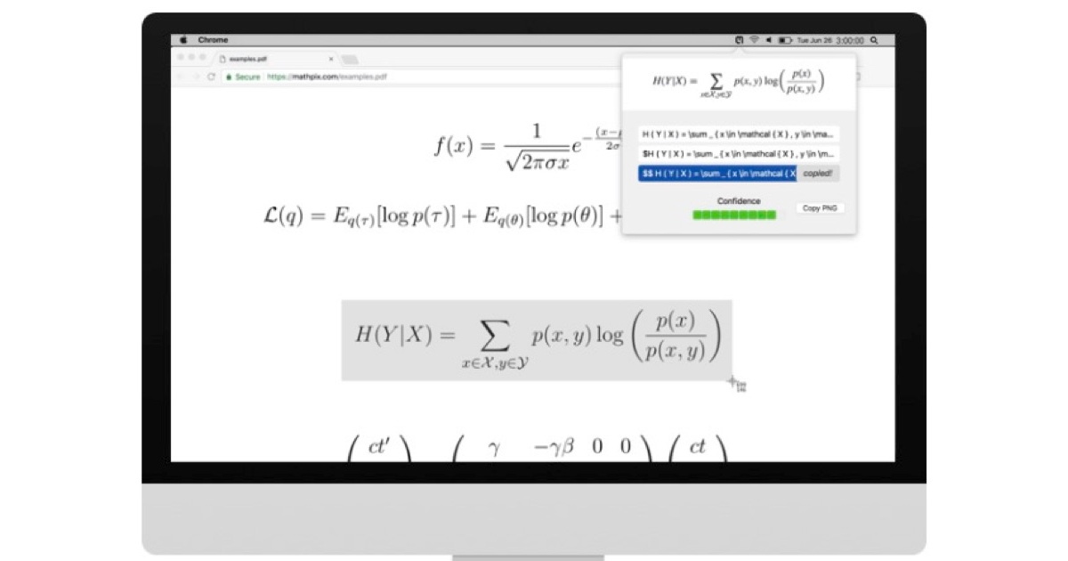 Mathpix's Snip Coverts Screenshots to LaTeX Formulas