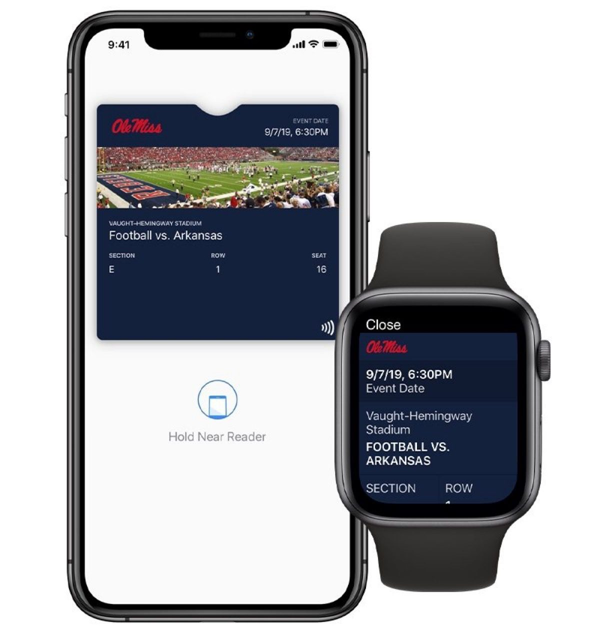 Apple Watch college ticket support